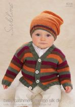 6016 - Sublime Little Bertie Cardigan & Little Bertie Hat Knitting Pattern